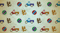 Seamless aged pattern with toys Stock Image