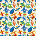Seamless airplane pattern Royalty Free Stock Photo