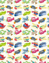 Seamless airplane pattern Royalty Free Stock Photos