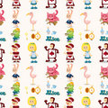 Seamless Alice in Wonderland pattern Royalty Free Stock Images