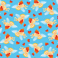 Seamless angel pattern Royalty Free Stock Photos