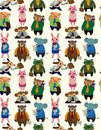 Seamless animal office worker pattern Royalty Free Stock Image