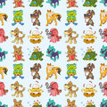 Seamless animal pattern Stock Photo