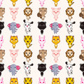 Seamless animal pattern Stock Photography