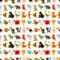 Seamless animal pattern cartoon vector illustration Royalty Free Stock Photography