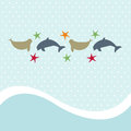 Seamless animal pattern for kids Stock Photography