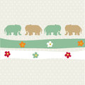 Seamless animal pattern for kids Stock Images