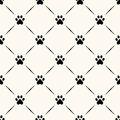 Seamless animal pattern of paw footprint can be used for wallpaper fills web page background surface textures Stock Photo