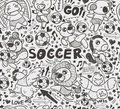 Seamless animal soccer player pattern cartoon vector illustration Royalty Free Stock Photo