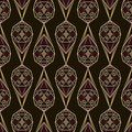 Seamless antique deco lace pattern ornament. Geometric backgroun
