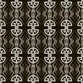 Seamless antique pattern ornament. Geometric art deco stylish ba