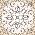Seamless antique wallpaper in brown Royalty Free Stock Photos