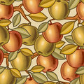 Seamless apple background Stock Photography