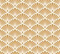Seamless Arabesque Floral Pattern. Art Deco Style Background. Vector Abstract Flower Texture. Royalty Free Stock Photo