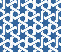 Seamless arabic ornament with twined lines pattern