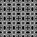 Seamless arabic swirls geometric pattern Royalty Free Stock Photo