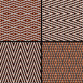 Seamless argyle pattern composed of dots vector Stock Photography