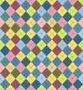 Seamless argyle sweater background file eps format Stock Image