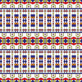 Seamless art deco pattern inspired by constructivism Stock Photos