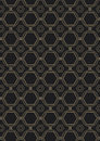 Seamless art deco style pattern an background containing a repeatable swatch Stock Photos