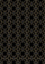 Seamless art deco style pattern an background containing a repeatable swatch Royalty Free Stock Images