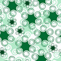 Seamless art green floral pattern Royalty Free Stock Photography