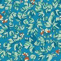 Seamless art green leaves pattern Stock Image