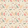 Seamless pattern with digital autumn leaves