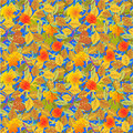 Seamless autumn leaves pattern Royalty Free Stock Photography