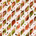 Seamless autumn pattern with colorful fantasy leaves