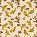 Seamless autumn pattern with leaves