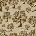Seamless autumn pattern. Thanksgiving Royalty Free Stock Photo