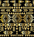 Seamless aztec pattern art deco style, vector illustration Royalty Free Stock Photo