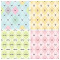 Seamless baby background collection set of vector patterns Royalty Free Stock Images