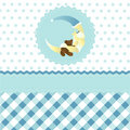 Seamless baby boy pattern Royalty Free Stock Photography