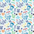 Seamless baby draw pattern Royalty Free Stock Photo