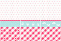 Seamless baby girl pattern Royalty Free Stock Images