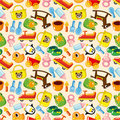 Seamless baby pattern Stock Image
