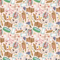 Seamless baby pattern Stock Photos