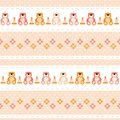 Seamless baby pattern teddy bears, flowers, pyramid, pink color Royalty Free Stock Photo