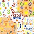 Seamless baby patterns Royalty Free Stock Photo