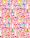 Seamless baby thing pattern Royalty Free Stock Photos