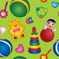 Seamless baby toy  background, children's toy Royalty Free Stock Photos