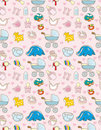 Seamless baby toy pattern Stock Photo