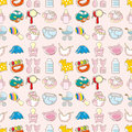 Seamless baby toy pattern Royalty Free Stock Photo