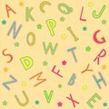Seamless background with alphabet letters Royalty Free Stock Photos