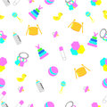 Seamless background baby toys vector Royalty Free Stock Image