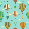 Seamless background from ballons with hot air balloons Stock Photography