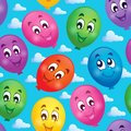 Seamless background with balloons eps vector illustration Royalty Free Stock Images
