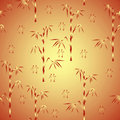 Seamless background with bamboo and hieroglyph Stock Photography